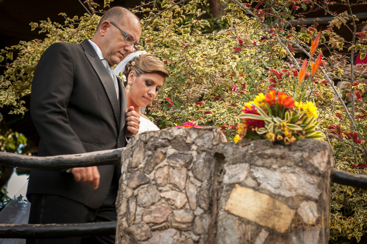 novia y padre camino al altar marianne