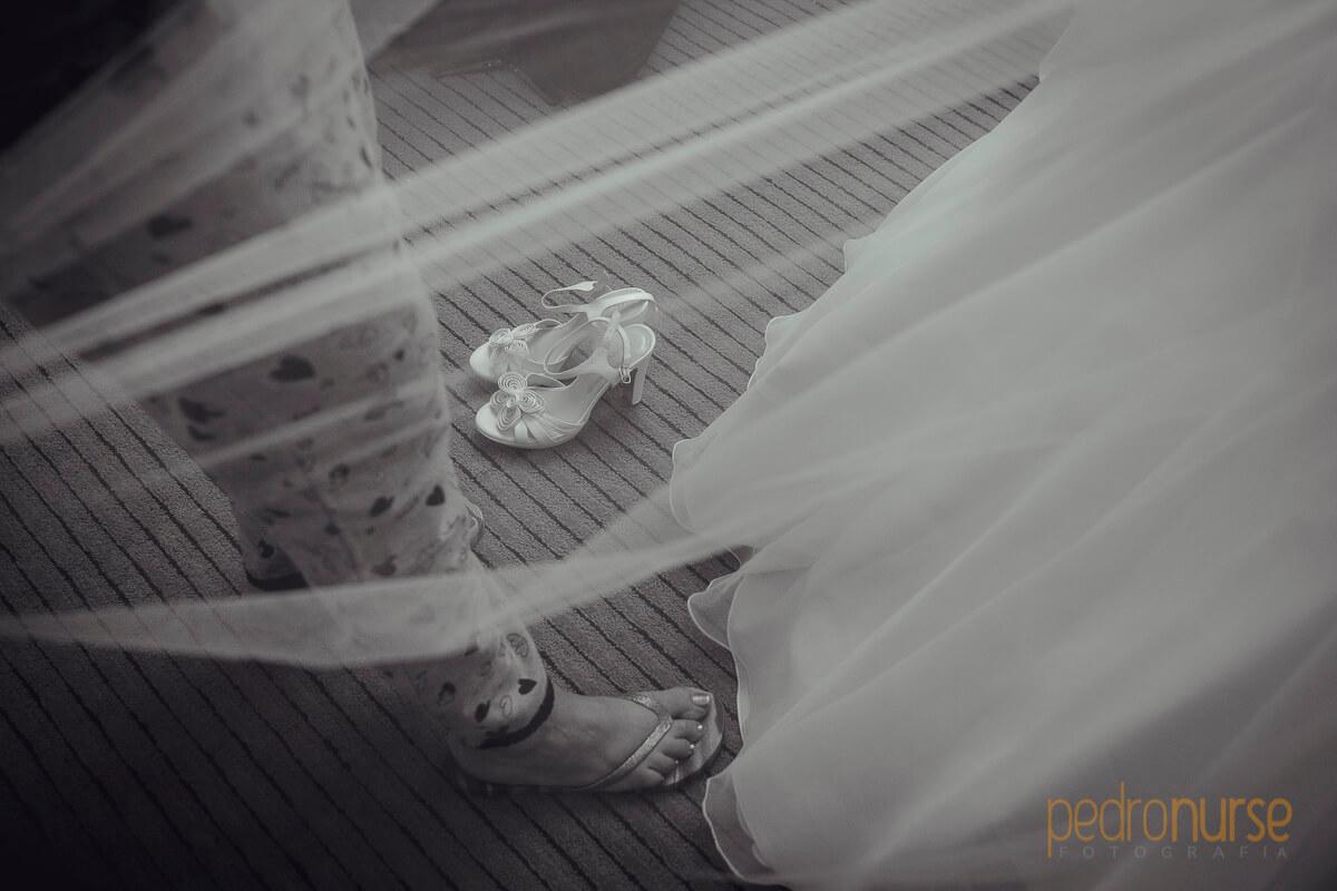 fotos de velo novia zapatos boda en hotel eurobuilding caracas