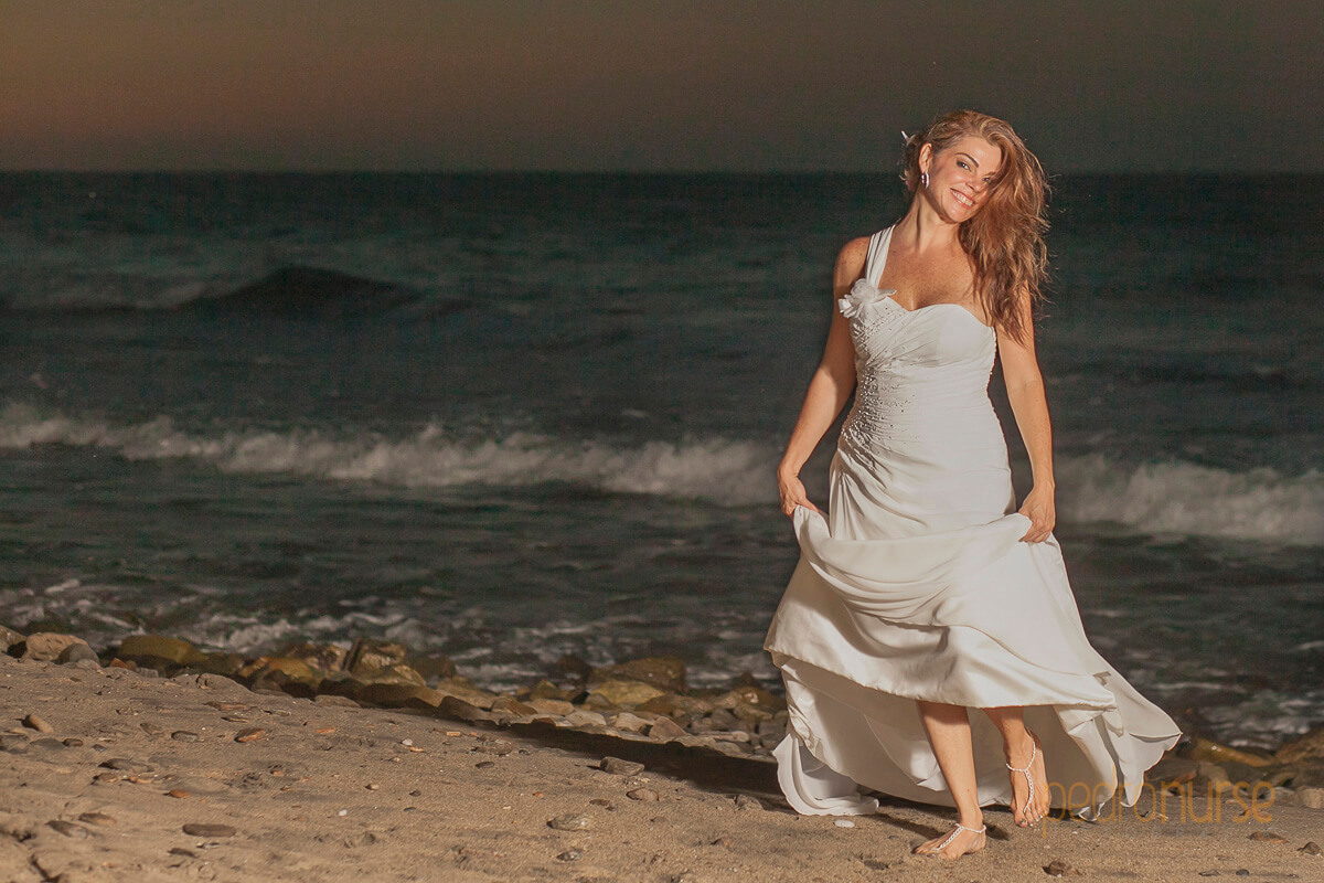 fotografia de novia orilla de playa posada 7 mares venezuela