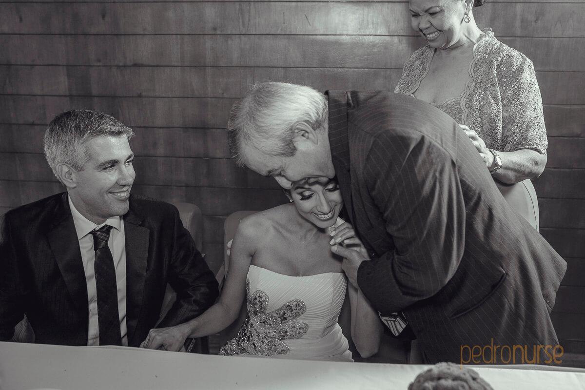 fotografia de padre de novia boda caracas hotel pestana