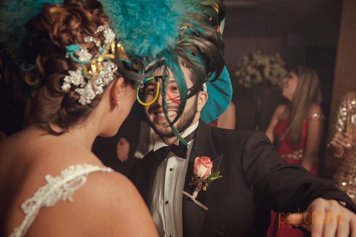 cotillon mascaras bodas novios
