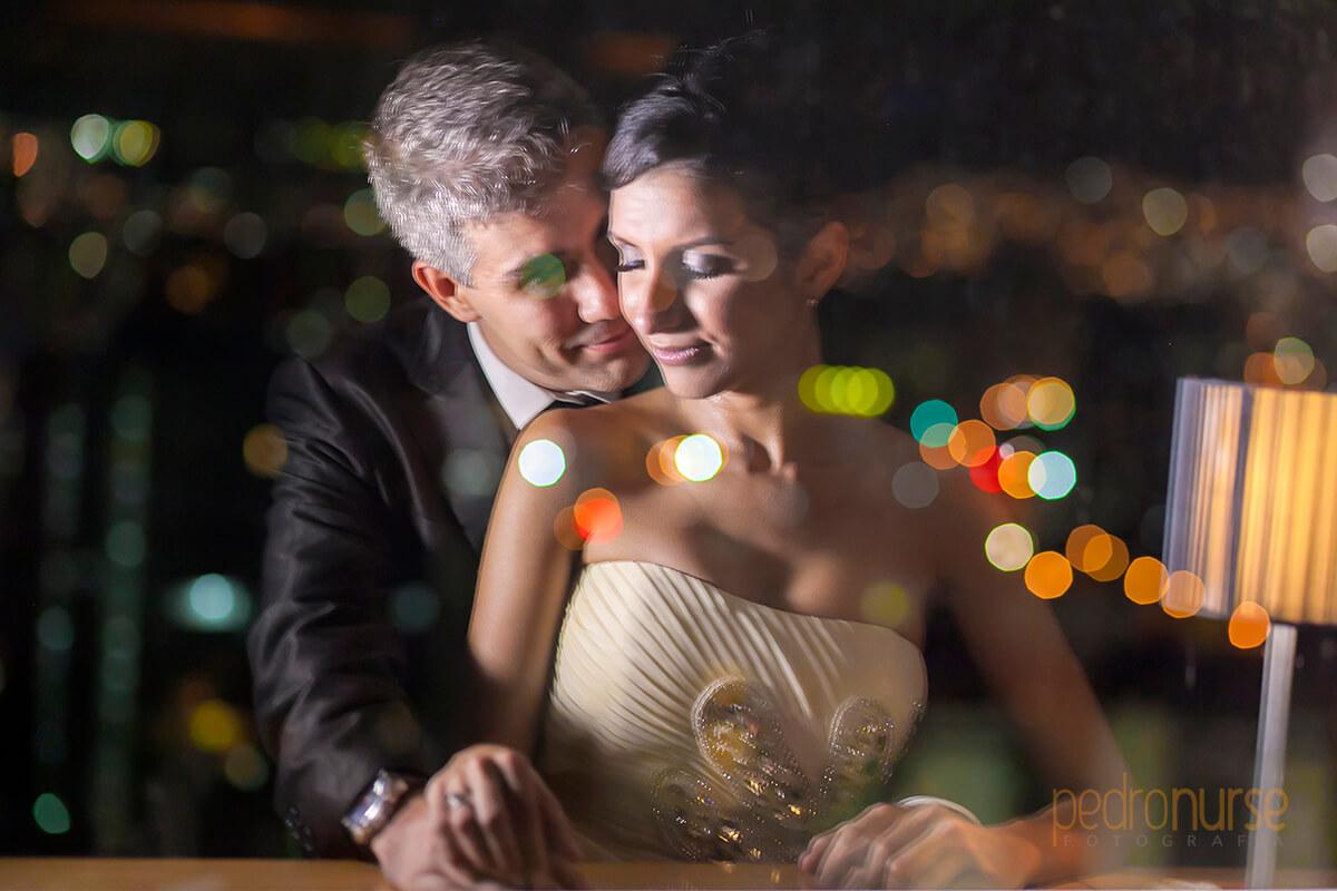 sesion de fotos de noche novios hotel pestana caracas