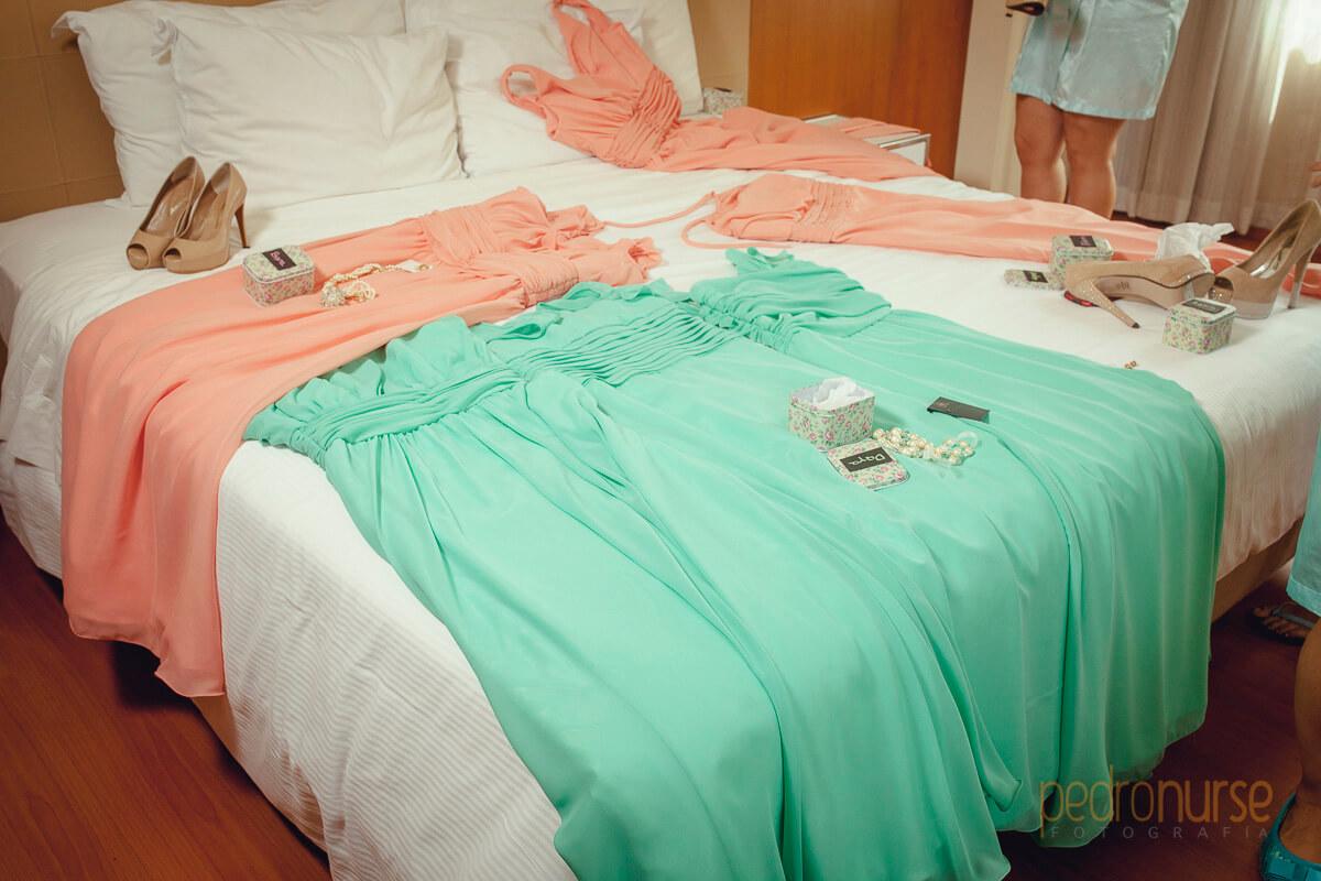 fotos de vestidos de colores vintage cortejo de boda