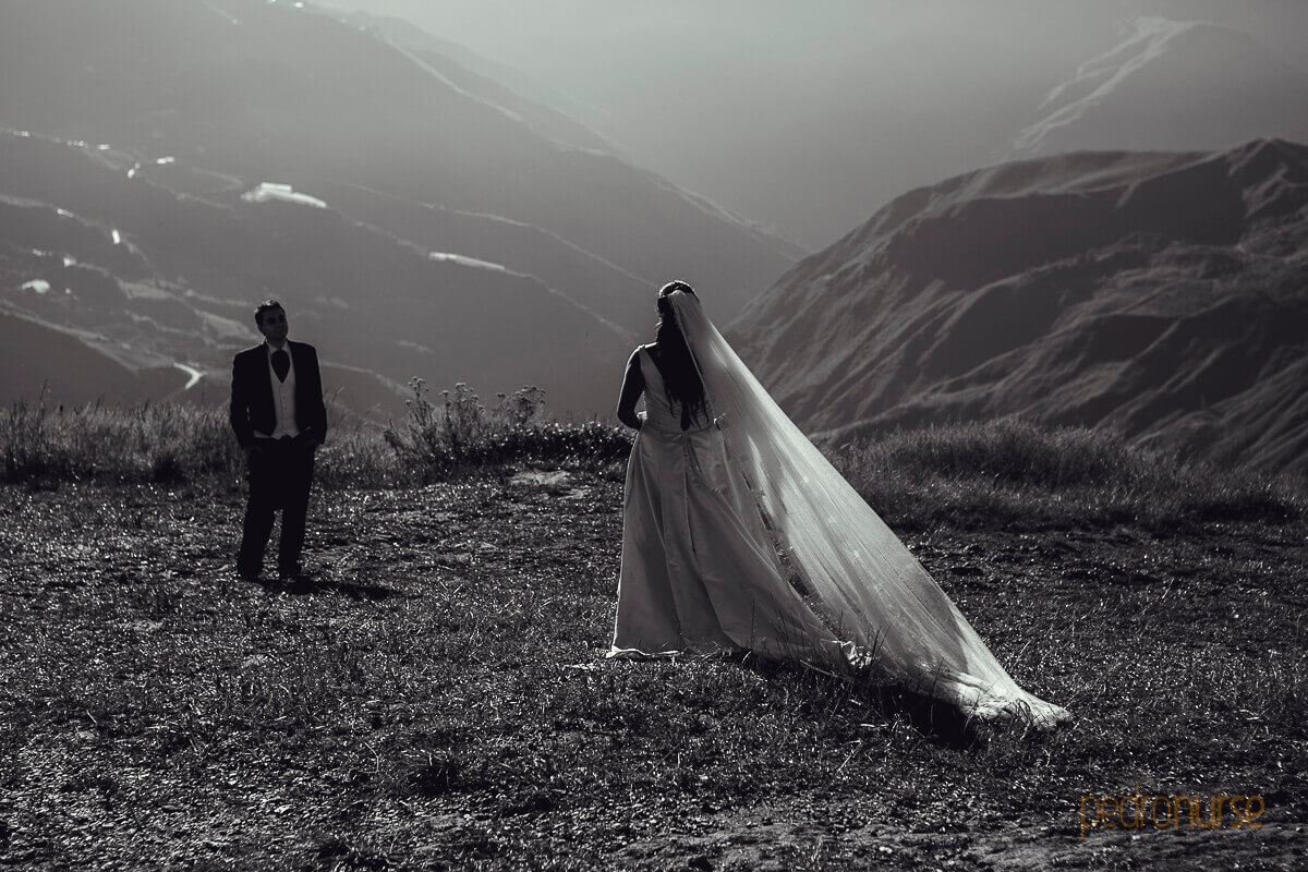 fotos de trash the dress romantica en las montanas del jarillo venezuela