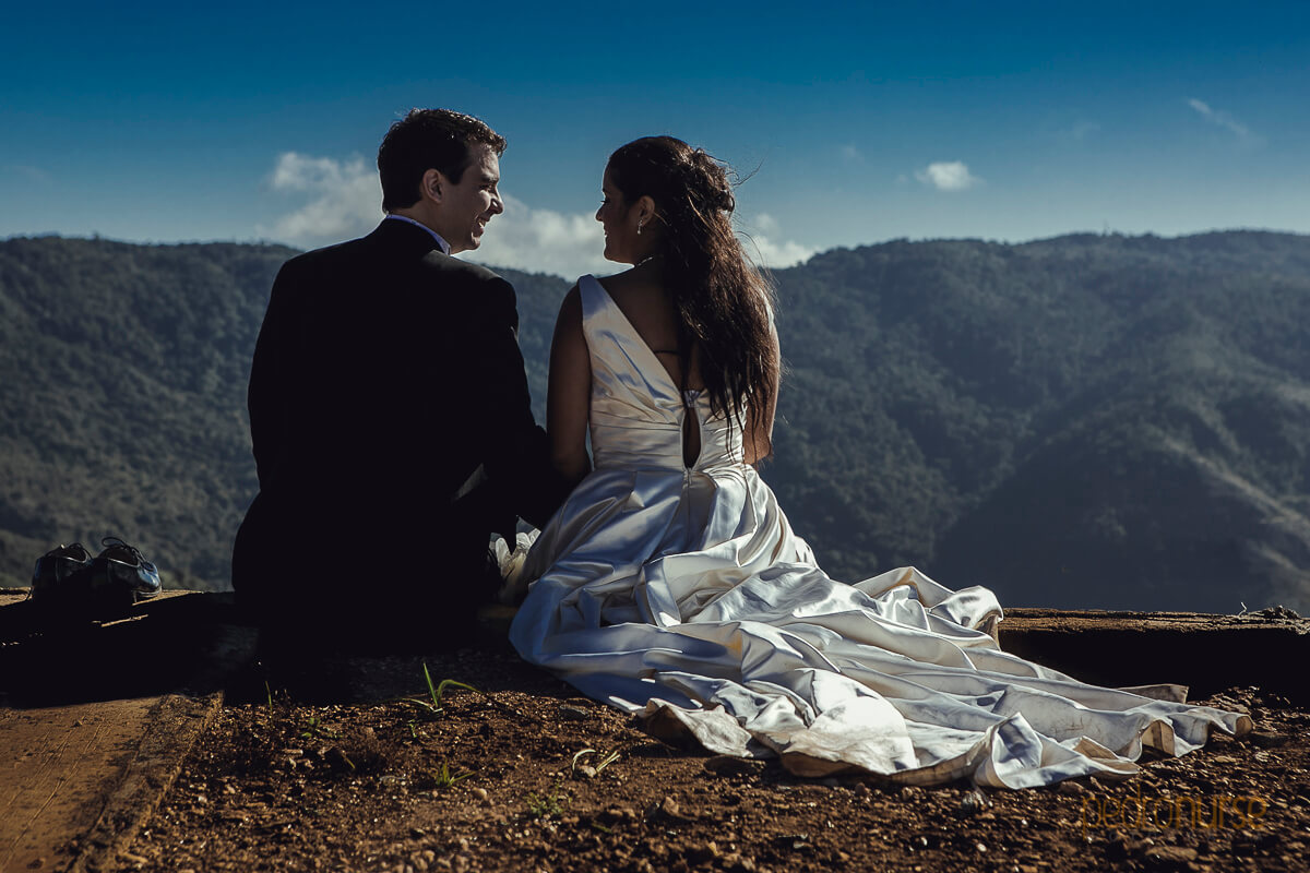 fotos de Trash the dress en el jarillo venezuela