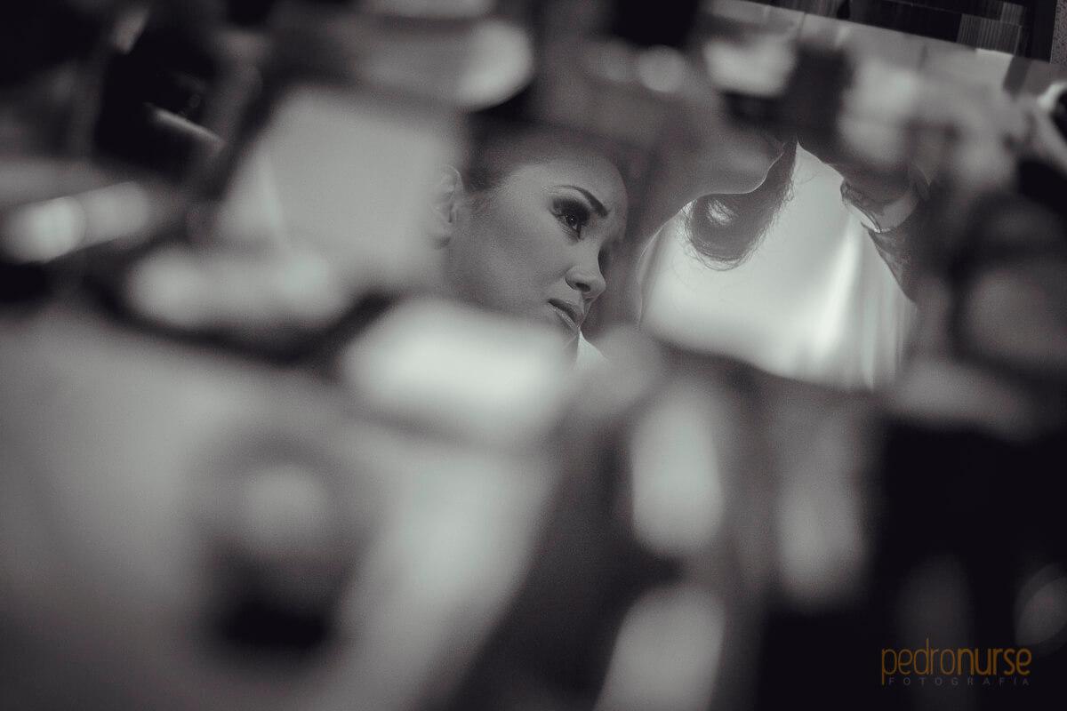 maquillaje de novia reflejos en espejos