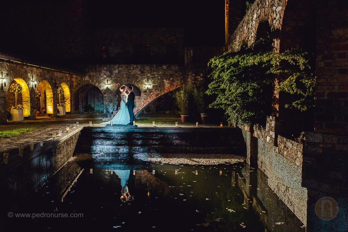 fotos de sesion de novio novia en boda del castillo de san roman caracas