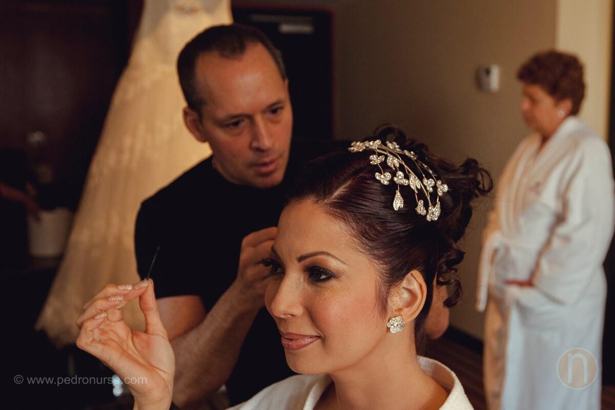 fotos de preparativos de novia en hotel renaissance caracas