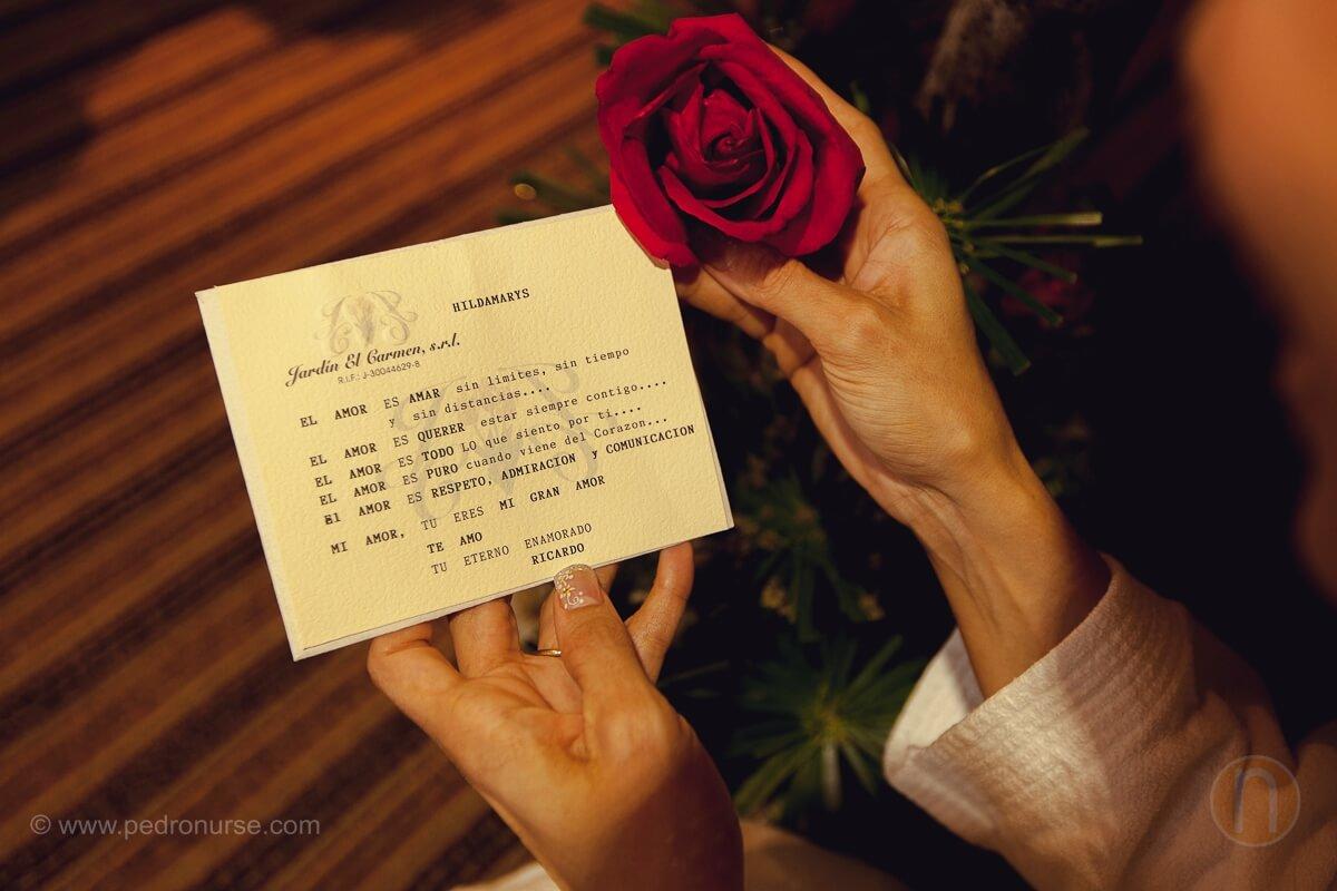 fotos de tarjeta dedicatoria a novia antes de la boda