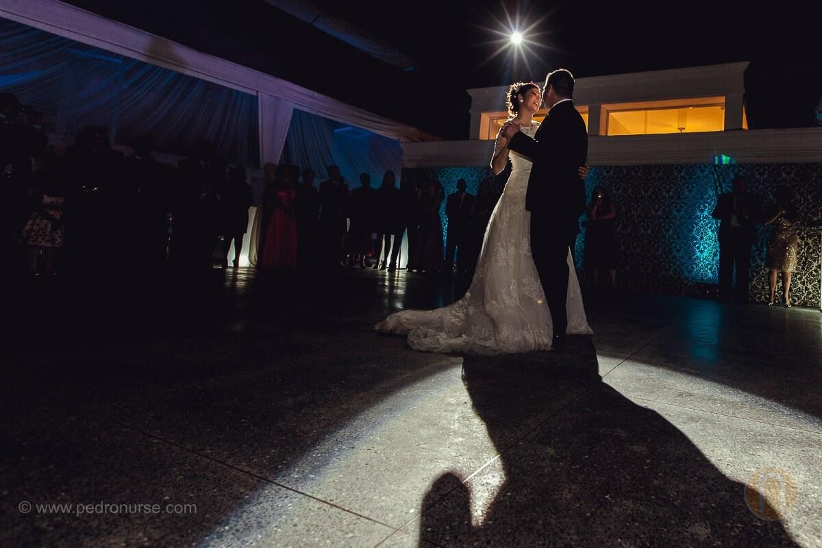 fotos de primer baile pareja novios en boda boda en quinta versalles caracas