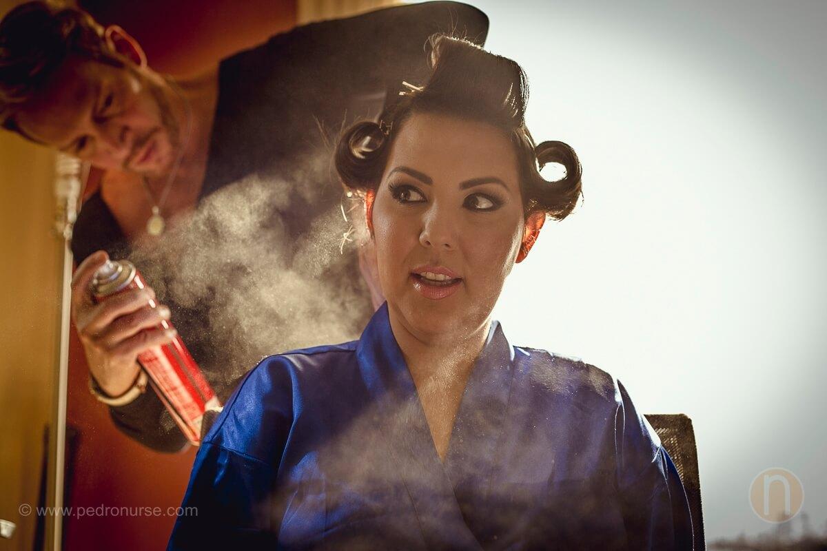 fotos de maquillaje y peinado de novia por franklin salomon en hotel renaissance caracas