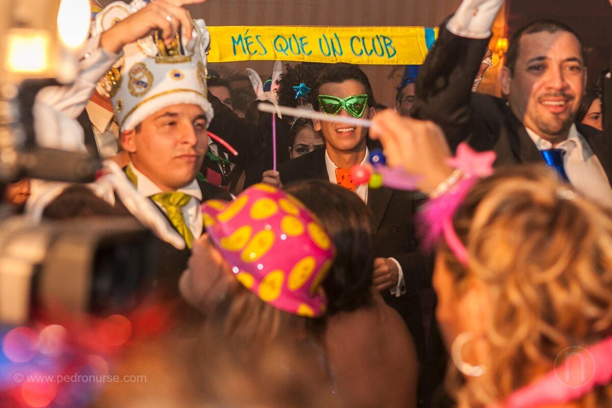 fotos de hora loca cotillon real madrid barcelona en boda hotel marriott caracas