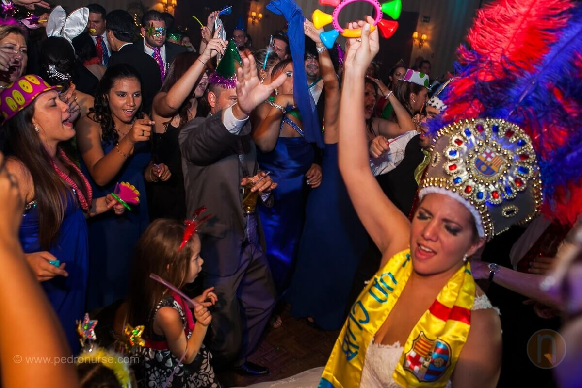 fotos de hora loca cotillon barcelona real madrid en boda hotel marriott caracas