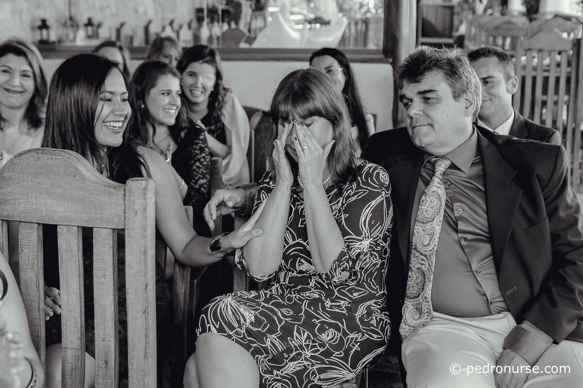 Fotos de madres llorando en Boda de sus hijas